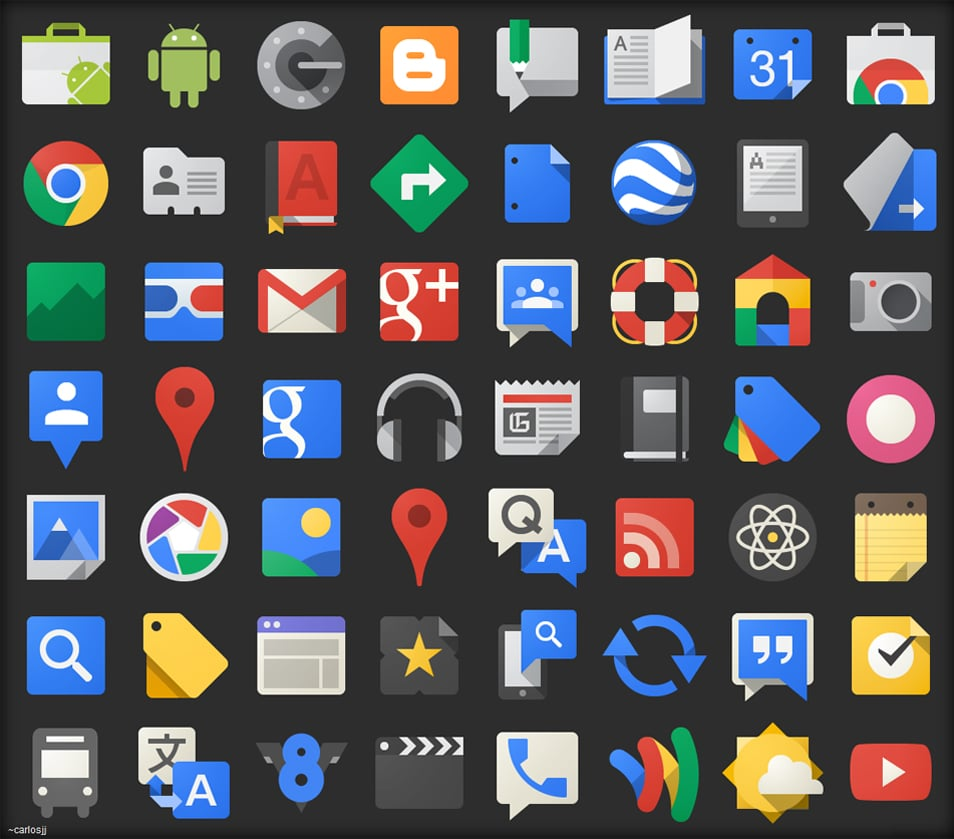 Google JFK Icons – ICO and PNG