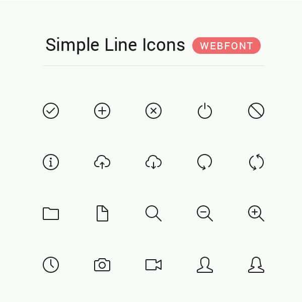 line icon fonts