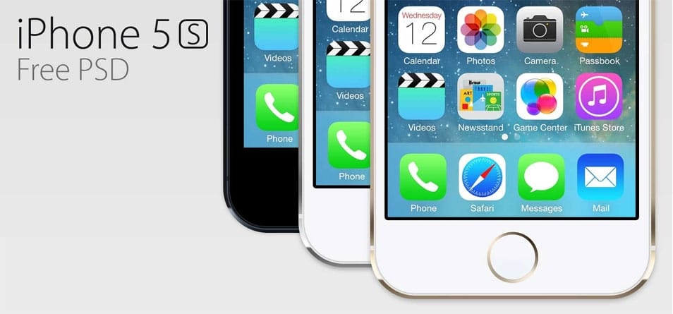 Free iPhone 5s PSD
