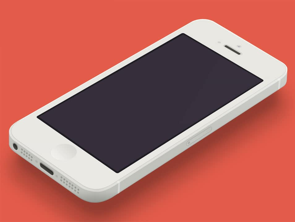 Minimal iPhone 5 [White] Template [PSD]