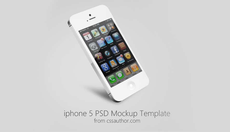iPhone 5 Mockup PSD