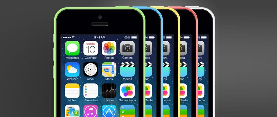 iPhone 5C - free PSD mockup