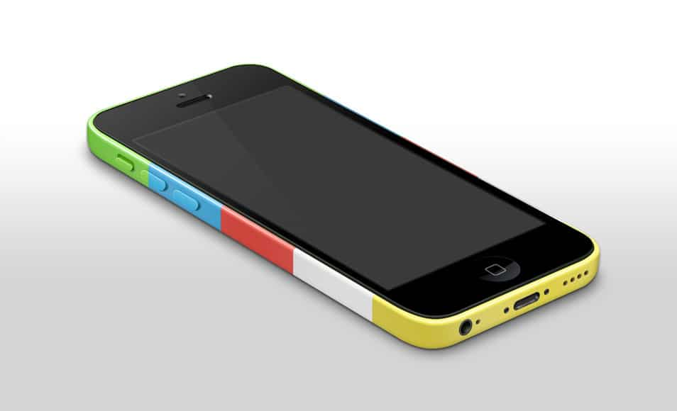 iPhone 5c Mockup Template