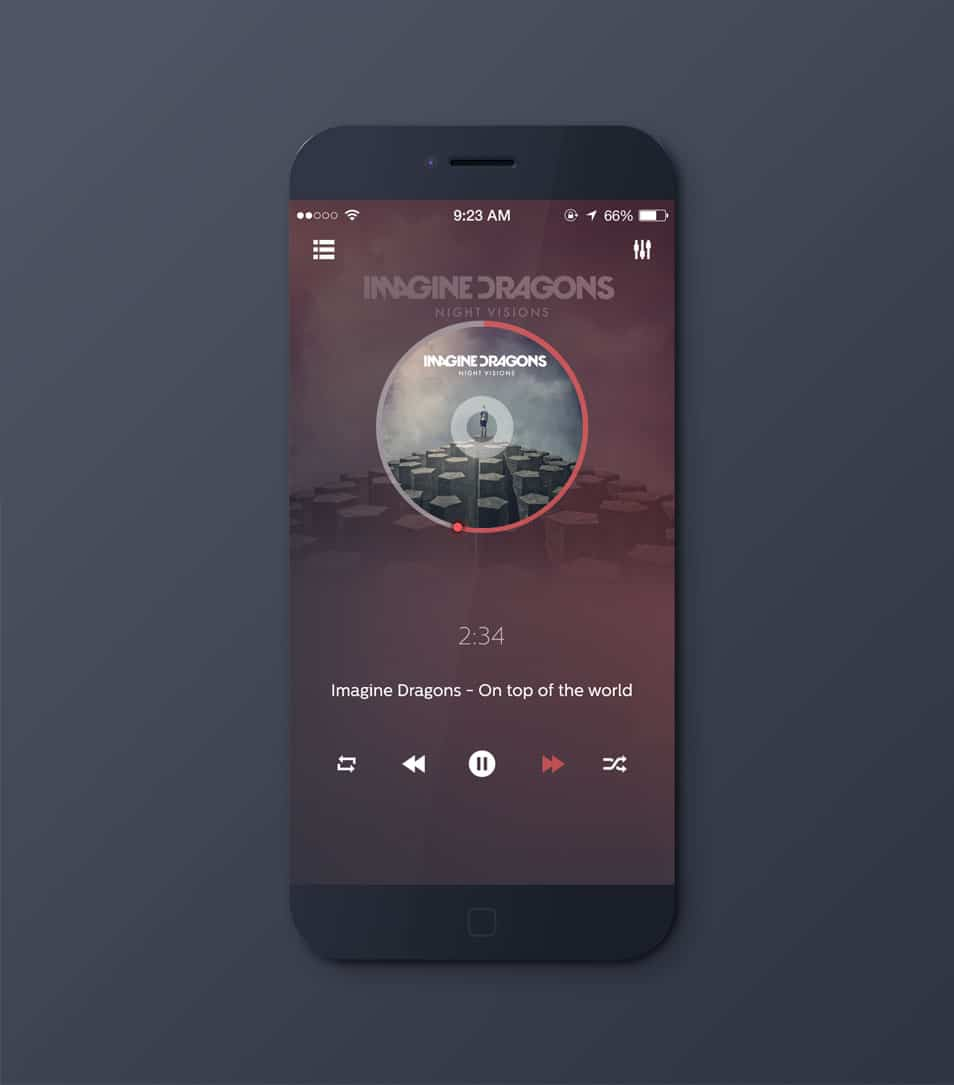 iPhone 6 Music Player App