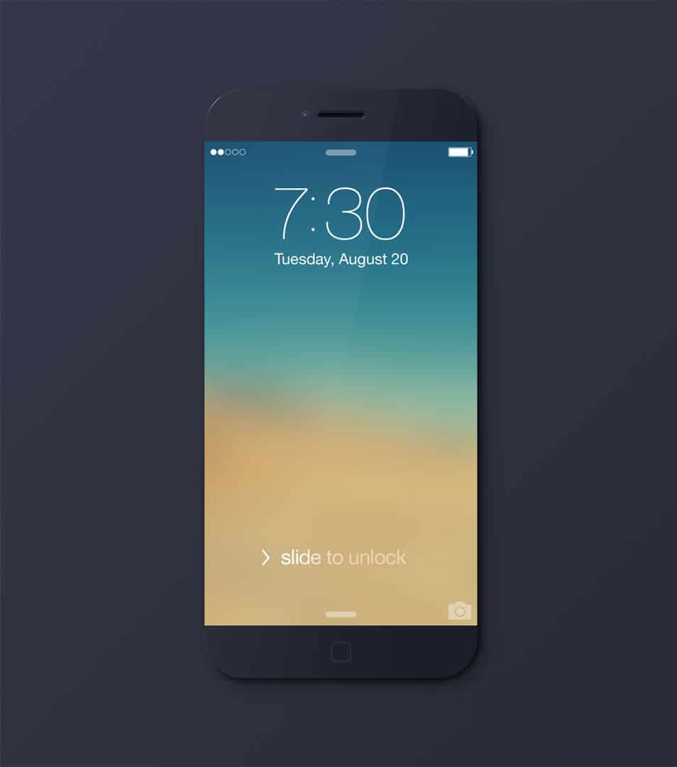 iPhone 6 black Mockup