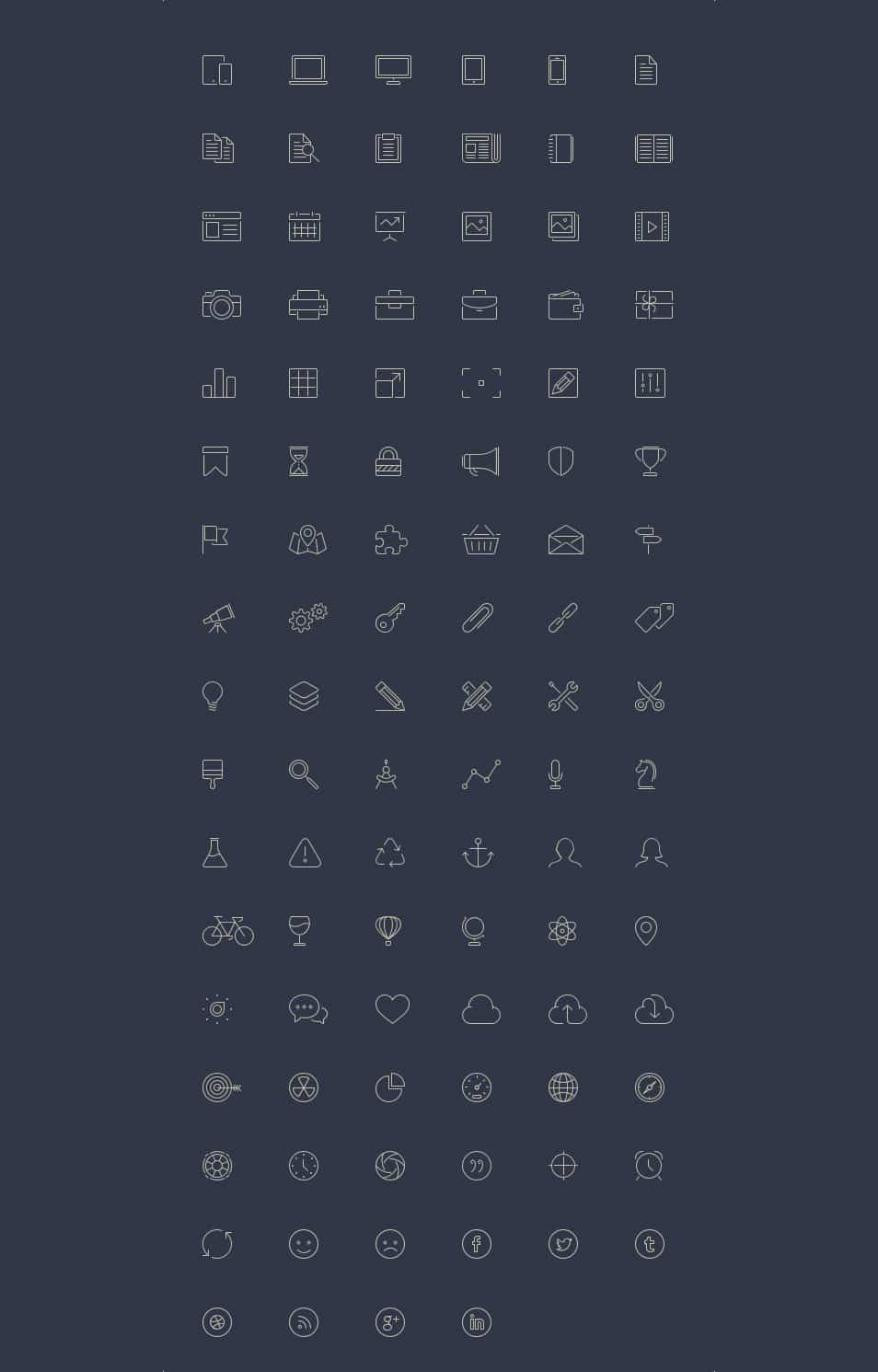 100 Free Line-Style Icons