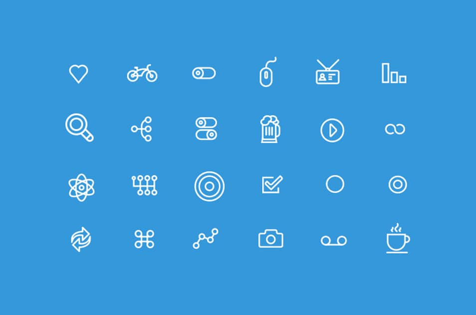 24 Unique Web Icons