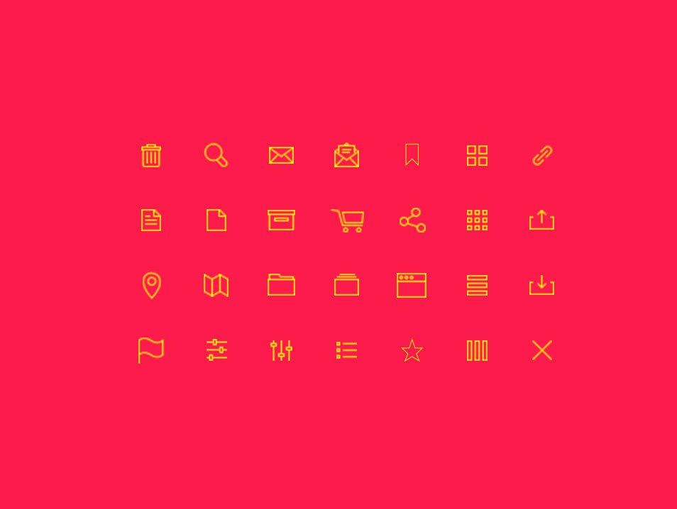 28 Free vector line icons