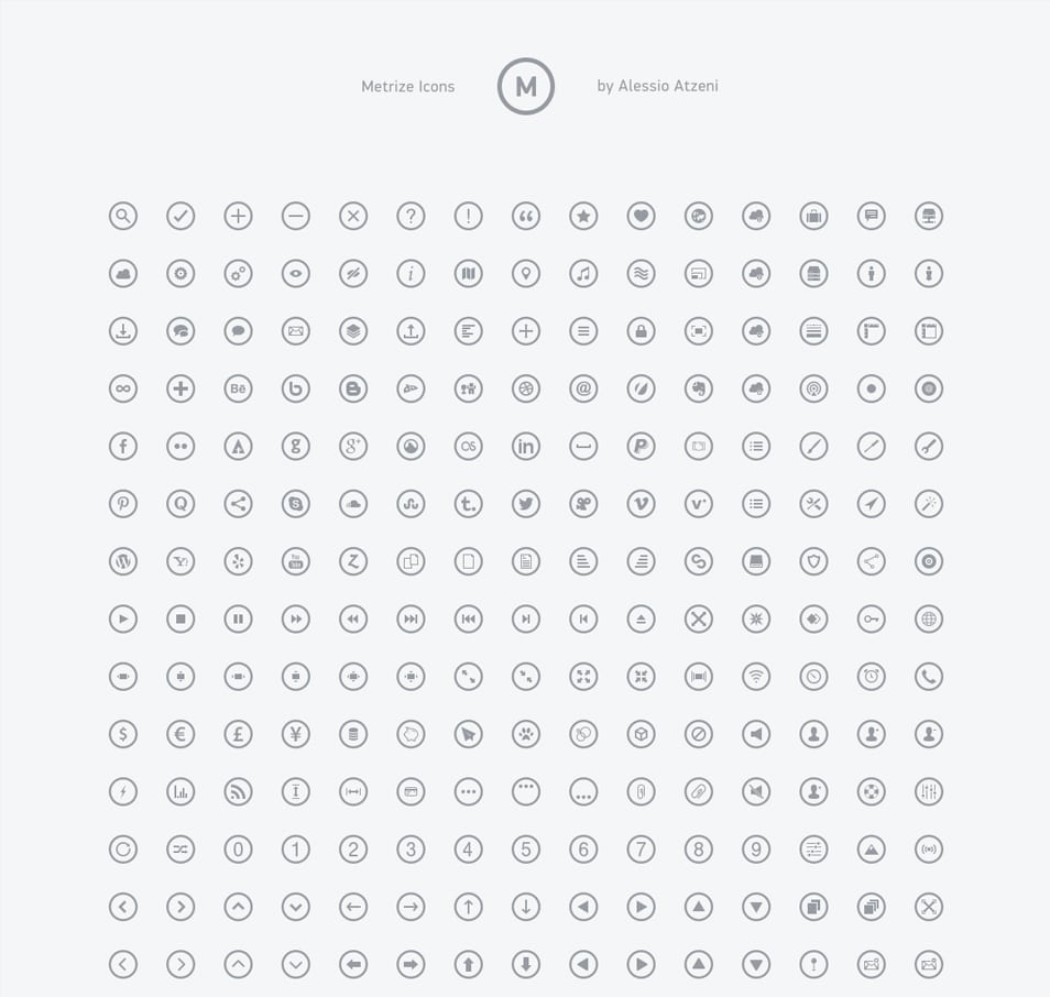 300 Metro-Style Icons for Designers and Developers
