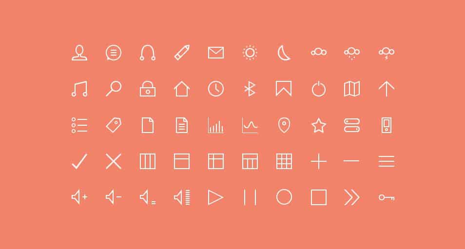 50 Thin Custom Icons