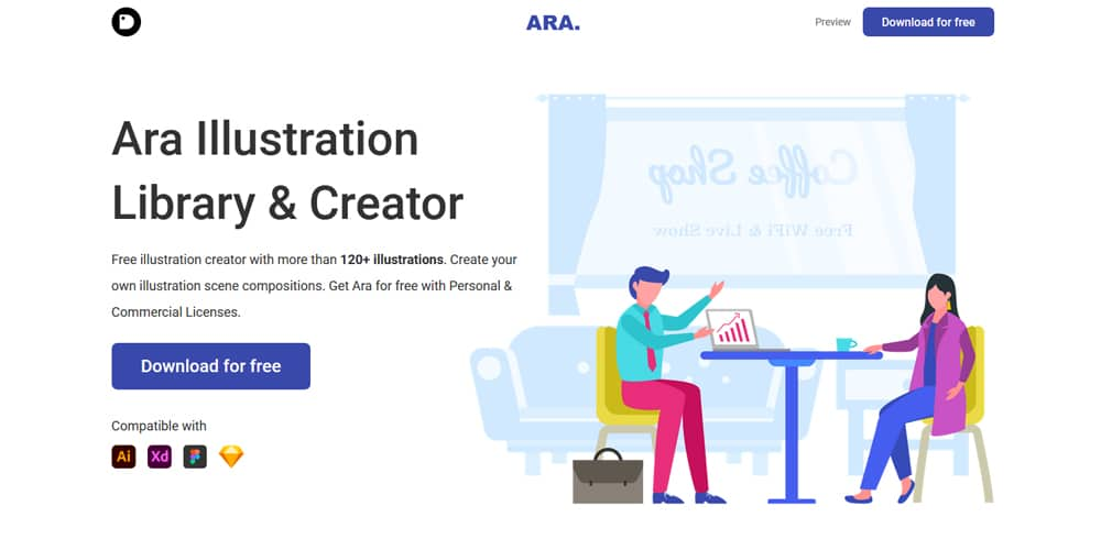 Ara Illustration Library and Creator