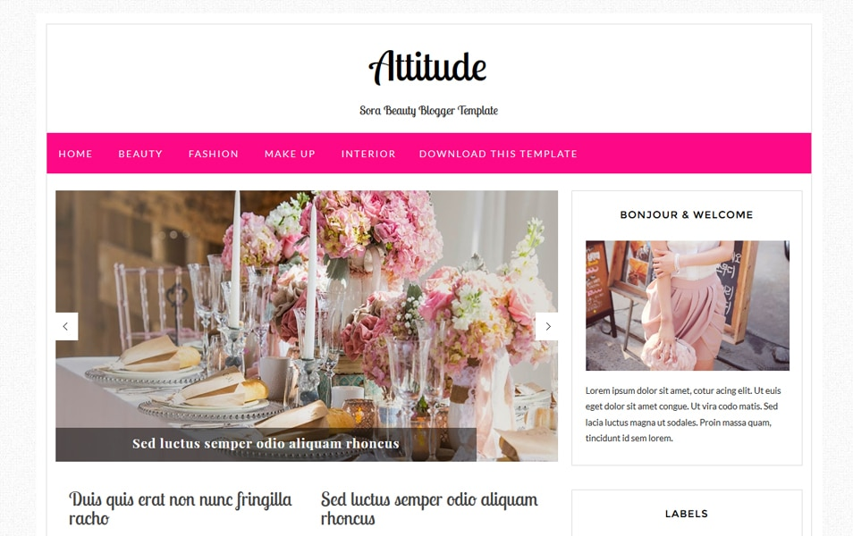 Attitude Fashion Blogger Template
