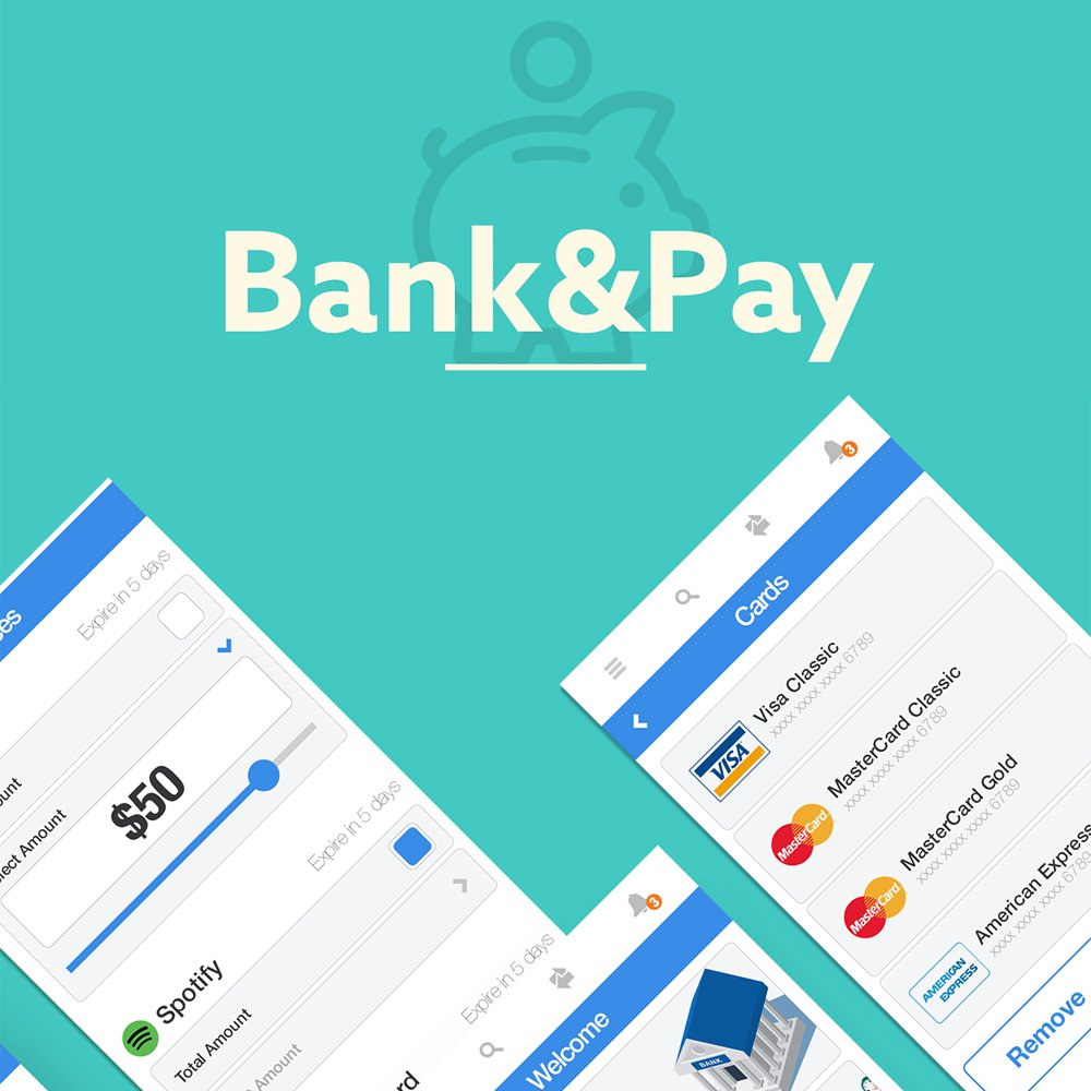 Bank Pay Free Mobile App UI PSD
