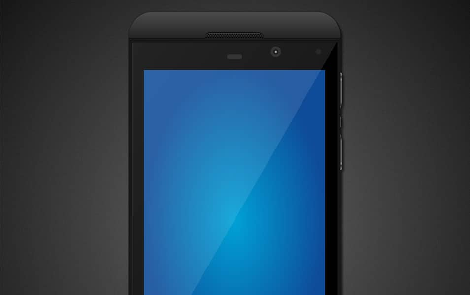 BlackBerry Z10 Mock-up PSD