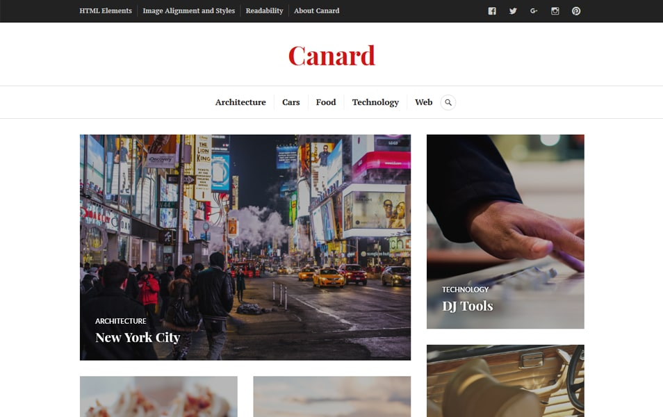 Canard Responsive WordPress Theme