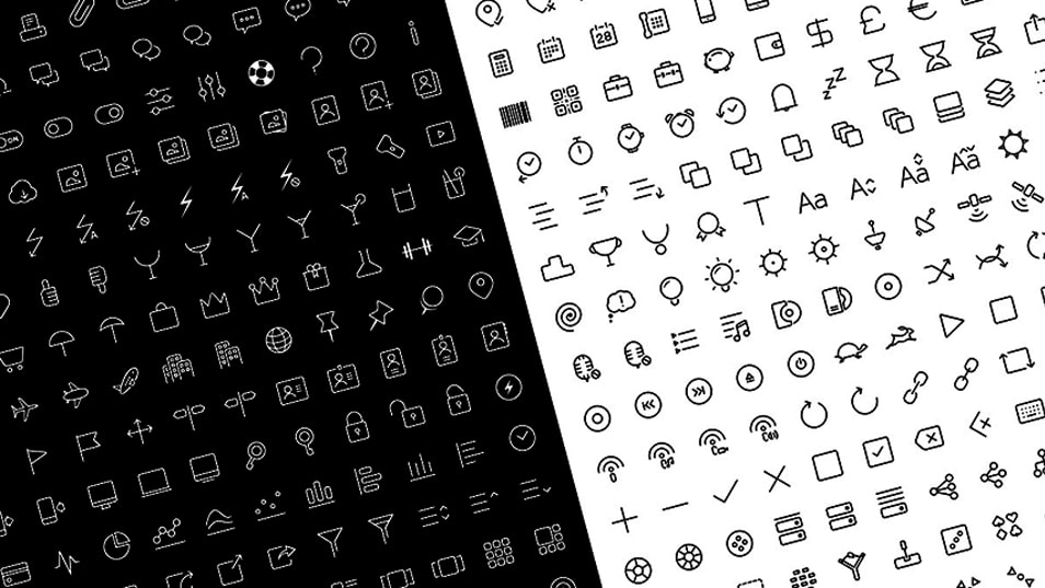 Clear Icons – Thin (Free Pack)