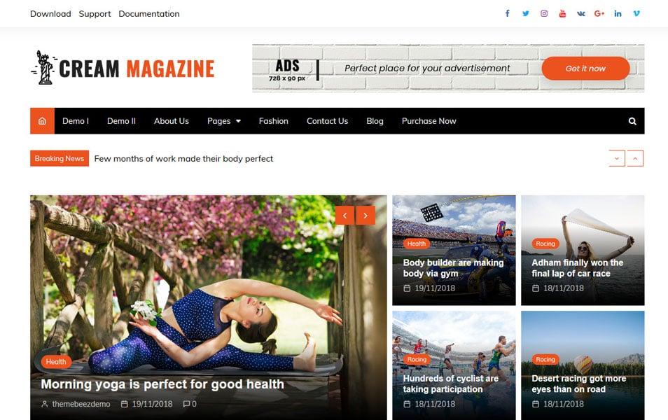 150 Free Responsive Magazine Wordpress Themes 2019 Css Author