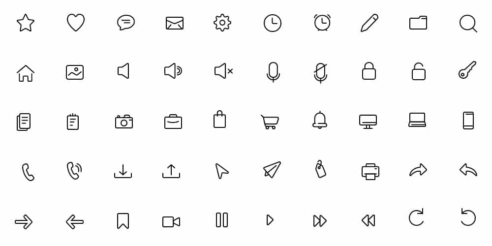 Daily Essential Icons