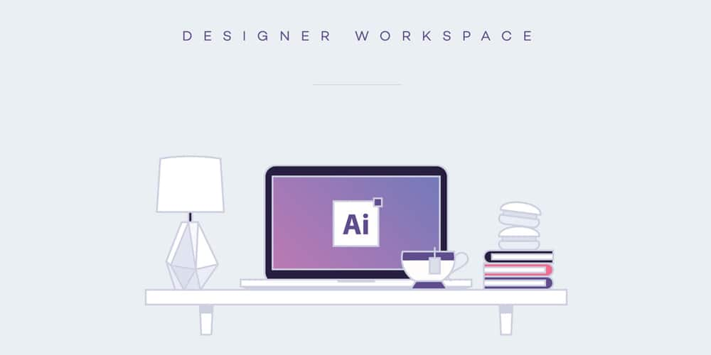 Designer Workspace Illustrations