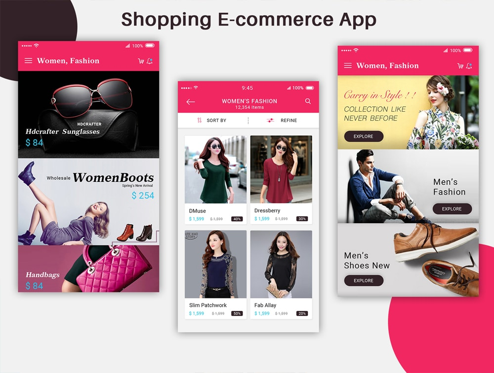 E-Commerce Mobile App UI PSD