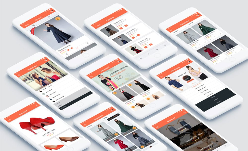 E commerce Mobile App UI PSD