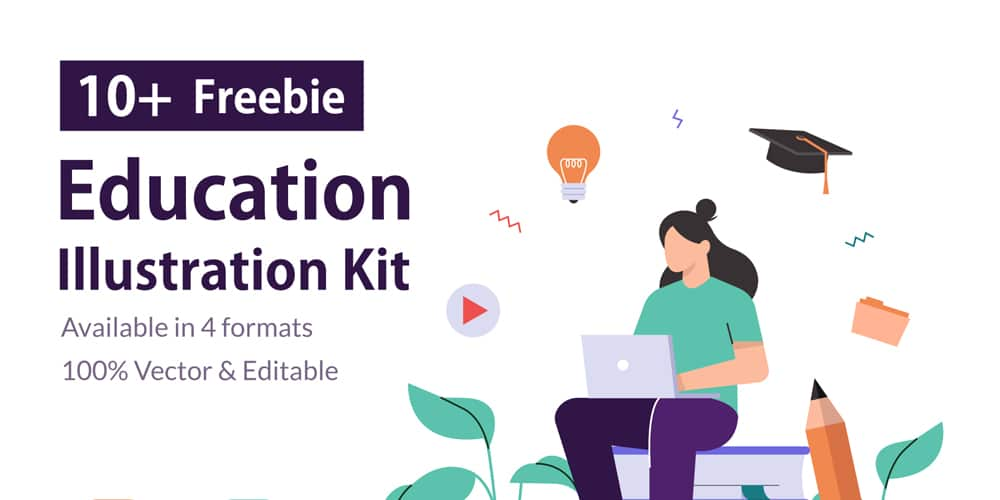 Education and Online Learning Illustration Kit