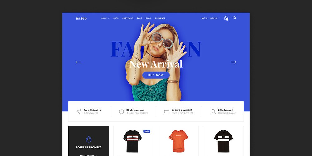 Fashion eCommerce Templates PSD