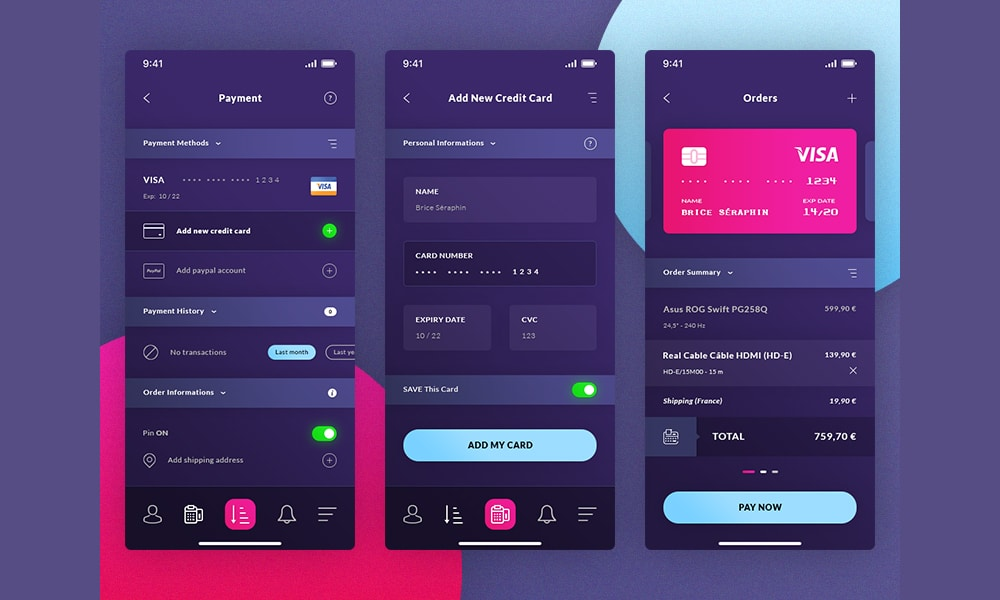 Finance IOS App UI PSD
