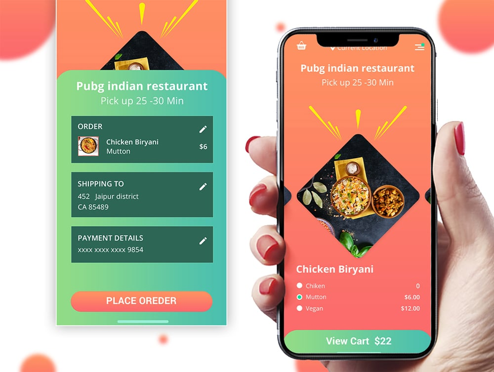 Foody Mobile App Design UI Kit PSD