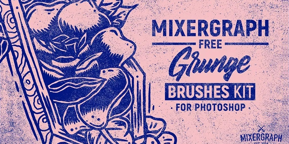 Free Grunge Photoshop Brushes Kit