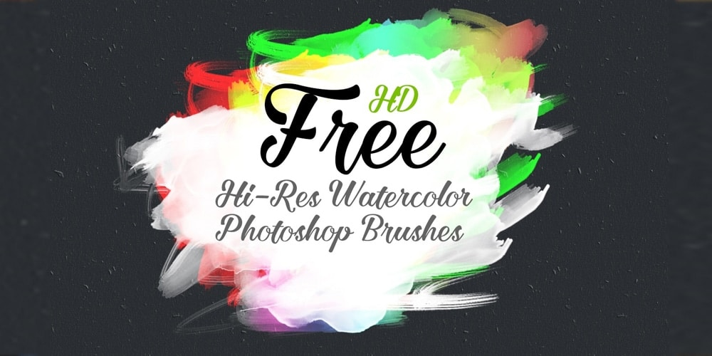 Free HD Watercolor Adobe Photoshop Brush