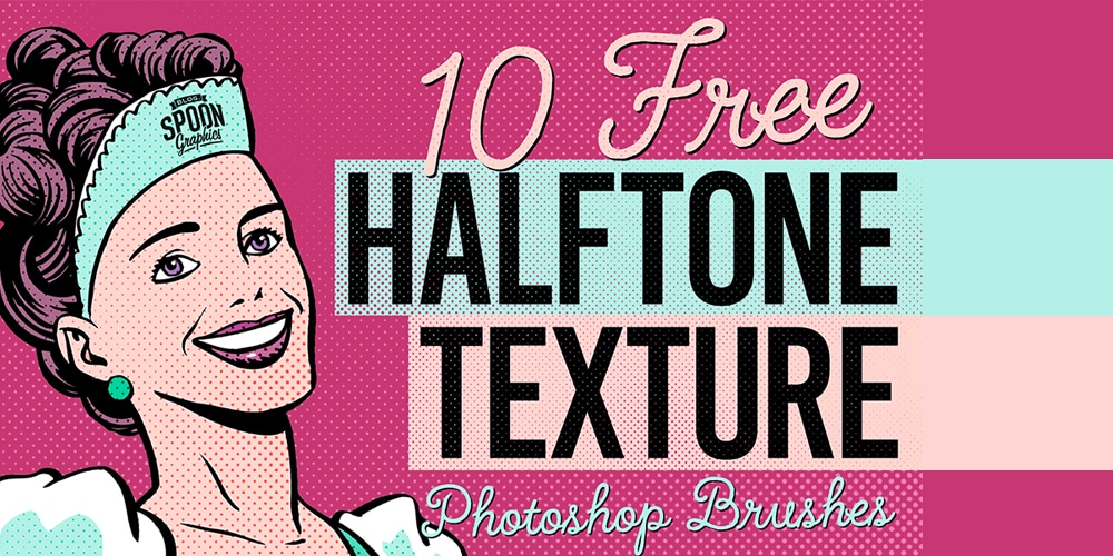 Free Halftone Texture Brushes