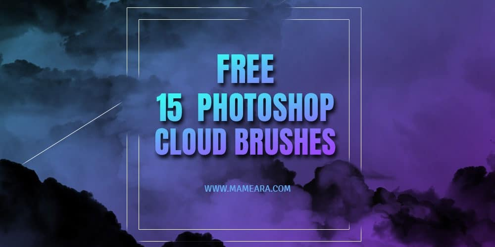 Free High Resolution Photoshop Cloud Brushes