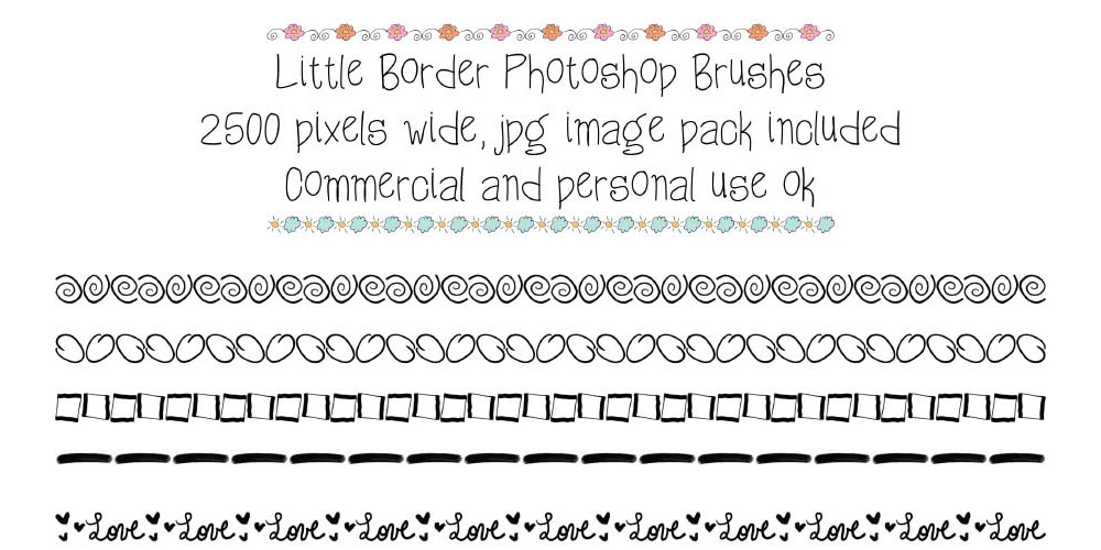 Free Little Border Photoshop Brushes
