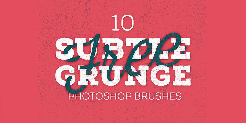 Free Subtle Grunge Texture Brushes
