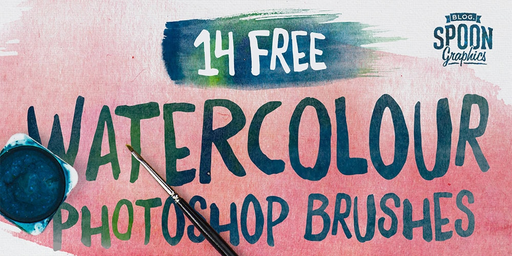 Free Watercolour Brushes for Adobe Photoshop