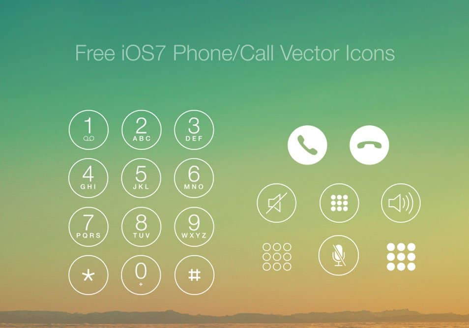 Free iOS7 Phone/Call Vector Icons