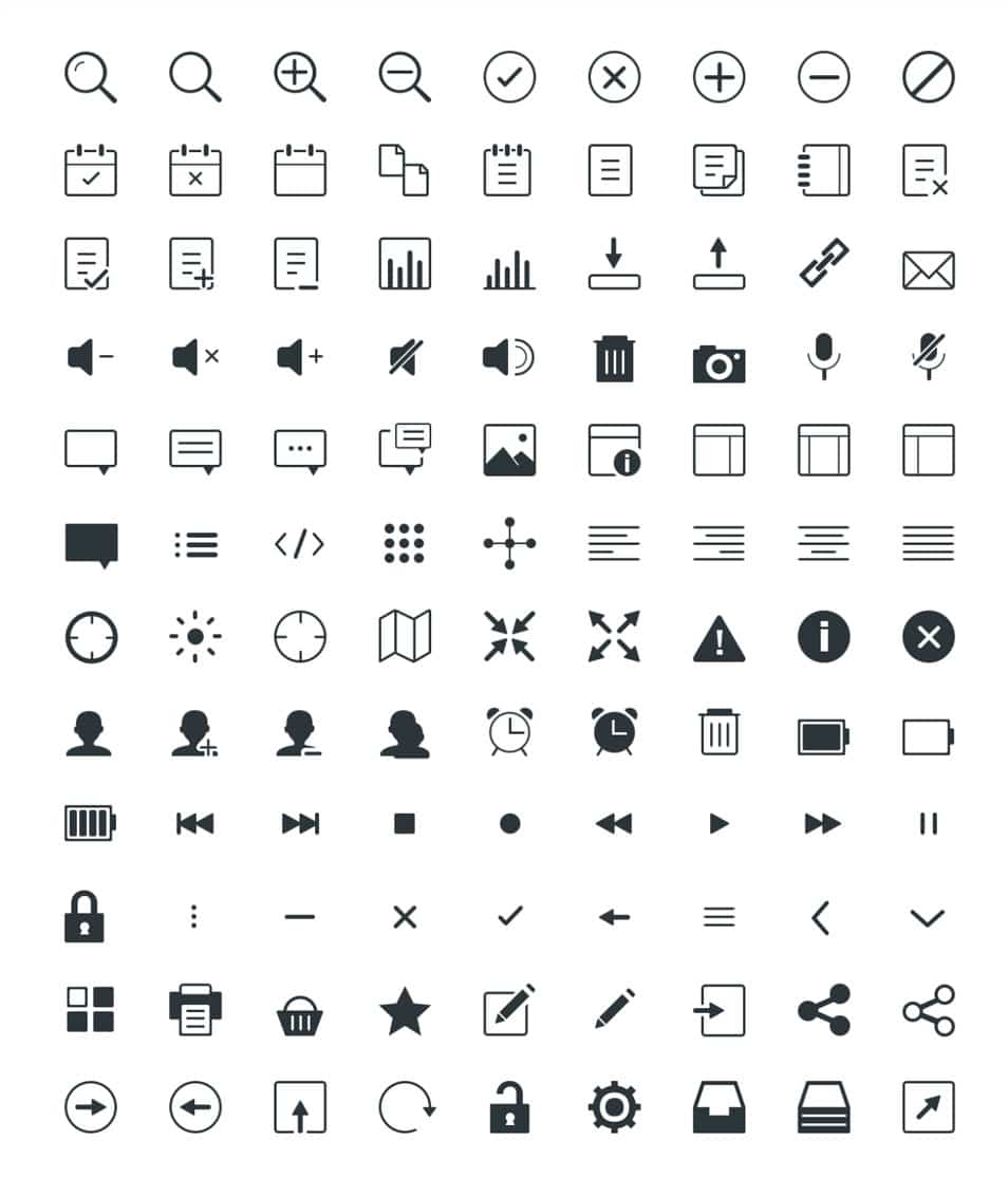 Gicons - 100+ free custom icons in PSD