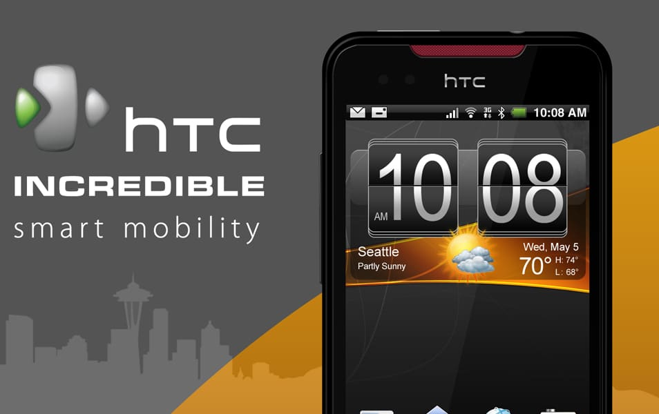 HTC Incredible Smartphone PSD