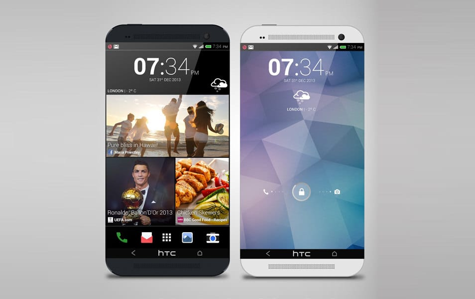 HTC One 2 PSD Mockup