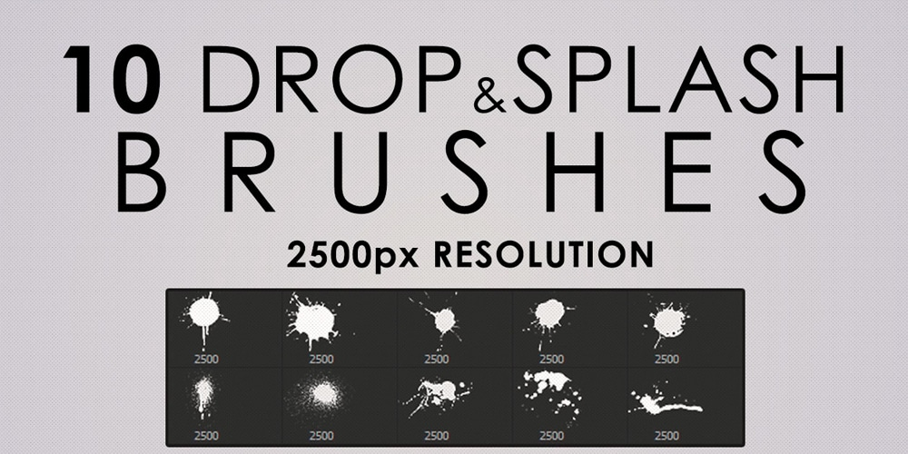 High Res Drops and Splashes Photoshop Brushes
