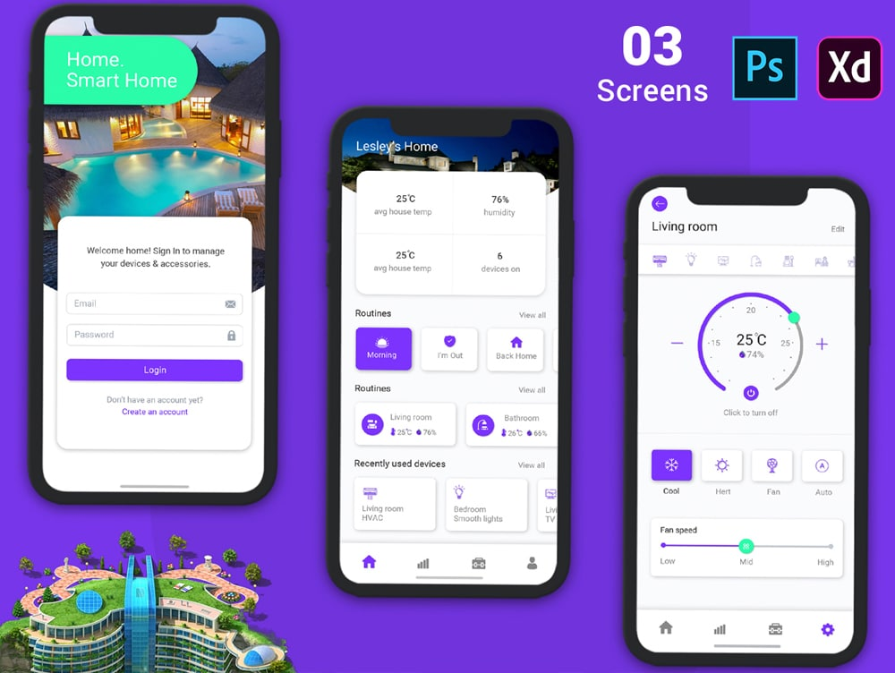 Hotel Booking App for Mobile UI Kit