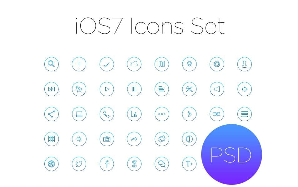 Ios7 Outline Icon Set