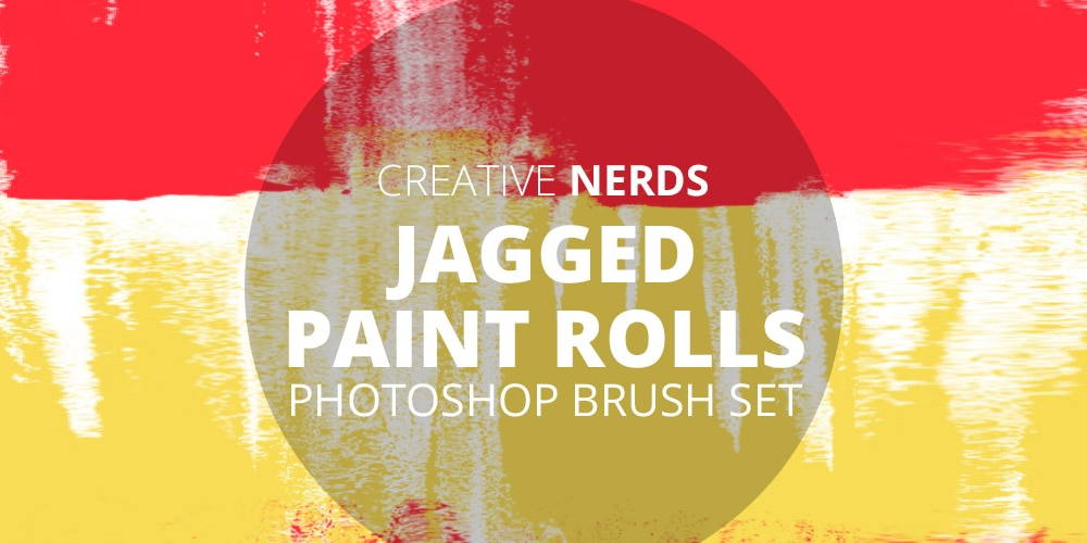 Jagged Paint Photoshop Brushes