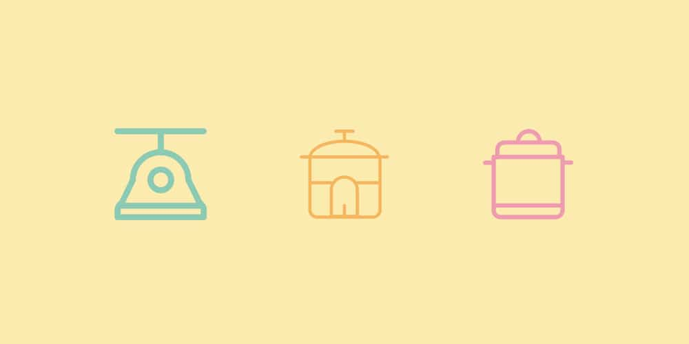 Kitchen Tools and Appliances Icons