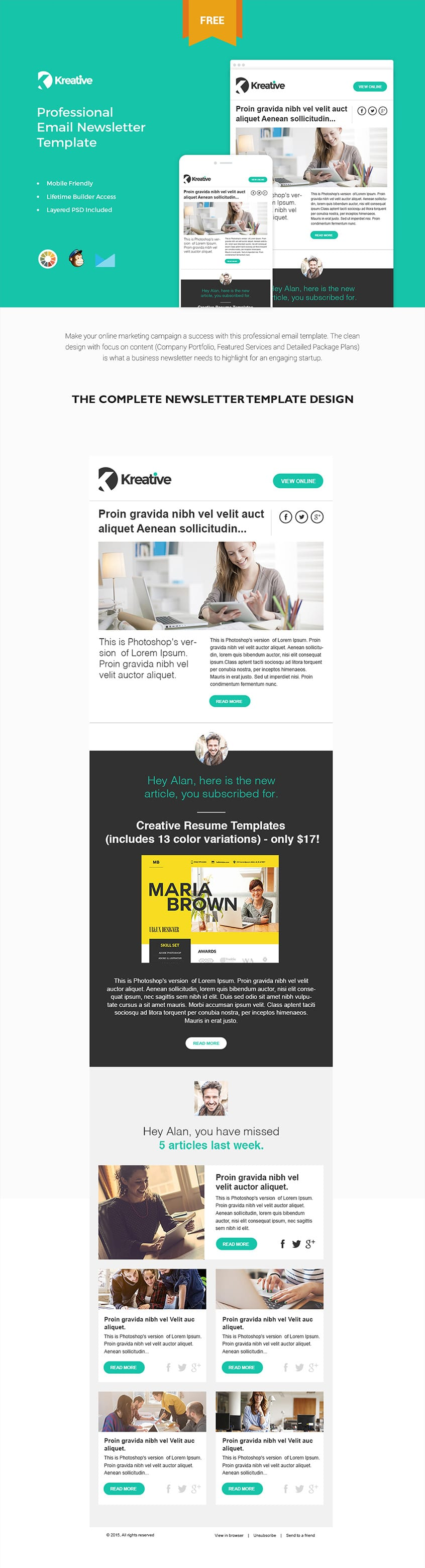 free april newsletter template - free email newsletter templates psd css author