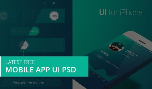 Latest Free Mobile App UI PSD Designs