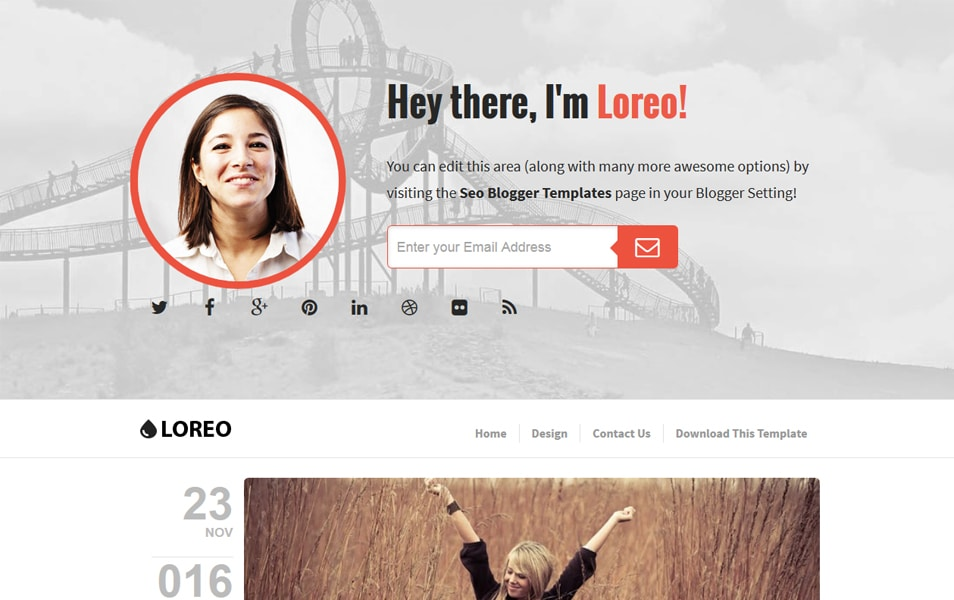 Loreo Responsive Blogger Template