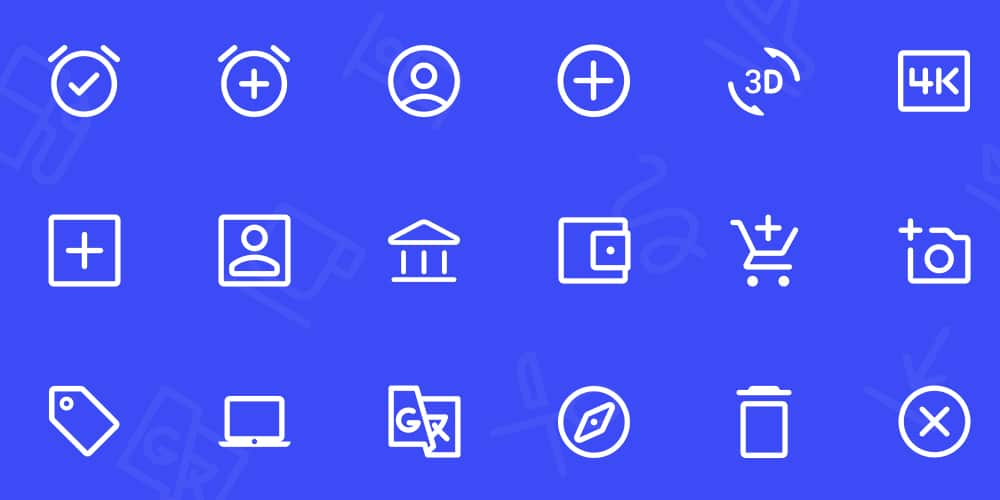 Material Design Simple Line SVG Icons