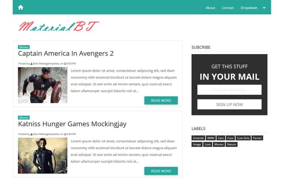 Free Responsive Templates | 200 Best Free Responsive Blogger Templates